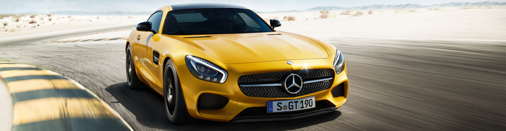 Mercedes-Benz GT AMG in gelb