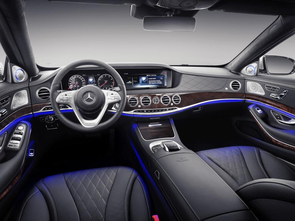 Foto Mercedes-Maybach S-Klasse; Interieur: Leder schwarz