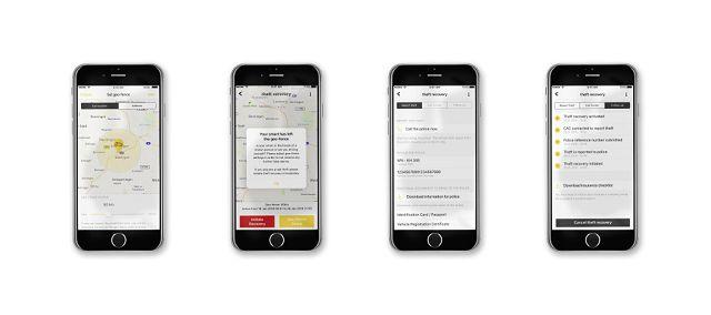 """Foto """"theft recovery"""" - schnelle Aufklärung von Autodiebstählen dank App-basiertem Service."""