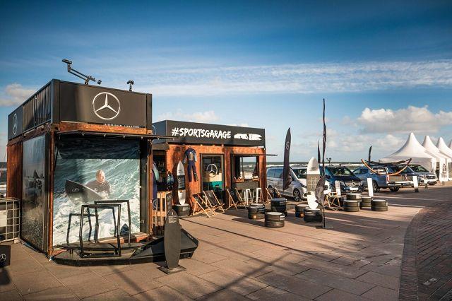 Foto Merc edes-Benz Windsurf World Cup Sylt 2018; #sportsgarage im neuen Look.
